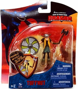 How To Train Your Dragon Movie 4 Inch Series 3 Action Figure Tuffnut [Shield & Axe]