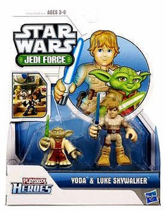 Star Wars 2011 Playskool Jedi Force Mini Figure 2-Pack Yoda & Luke Skywalker