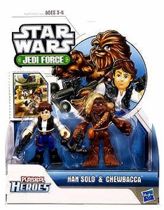 Star Wars 2011 Playskool Jedi Force Mini Figure 2-Pack Han Solo & Chewbacca