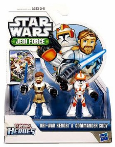 Star Wars 2011 Playskool Jedi Force Mini Figure 2-Pack Obi-Wan Kenobi & Commander Cody