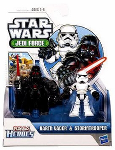 Star Wars 2011 Playskool Jedi Force Mini Figure 2-Pack Darth Vader & Stormtrooper