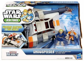 Star Wars 2011 Playskool Jedi Force Deluxe Vehicle Snowspeeder with Luke Skywalker & Han Solo