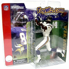 McFarlane Toys NFL Sports Picks Series 1 Action Figure Randy Moss (Minnesota Vikings) White Jersey Variant