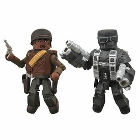Marvel MiniMates Exclusive Mini Figure 2-Pack Gabe Jones & Hydra Flame Trooper BLOWOUT SALE!