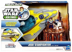 Star Wars 2011 Playskool Jedi Force Deluxe Vehicle Anakin Skywalker's Jedi Starfighter with R2-D2