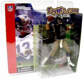 McFarlane Toys NFL Sports Picks Series 1 Action Figure Kurt Warner (St. Louis Rams) Blue Jersey Variant