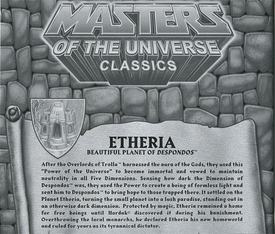 He-Man Masters of the Universe Classics Exclusive Map of Etheria