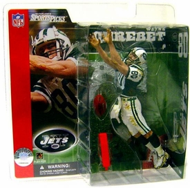 McFarlane Toys NFL Sports Picks Series 2 Action Figure Wayne Chrebet (New York Jets) Green Jersey Variant Yellowed Package
