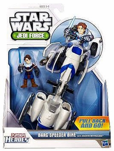 Star Wars 2011 Playskool Jedi Force Vehicle BARC Speeder with Anakin Skywalker