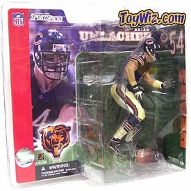 McFarlane Toys NFL Sports Picks Series 2 Action Figure Brian Urlacher (Chicago Bears) Blue Jersey