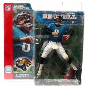 McFarlane Toys NFL Sports Picks Series 2 Action Figure Mark Brunell (Jacksonville Jaguars) Teal Jersey with Helmet On