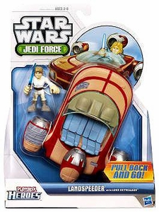 Star Wars 2011 Playskool Jedi Force Vehicle Landspeeder with Luke Skywalker