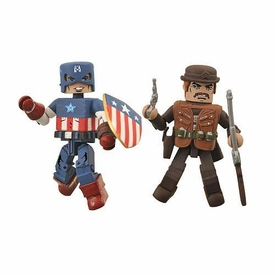 Marvel MiniMates Exclusive Mini Figure 2-Pack Golden Age Captain America & Dum Dum Dugan
