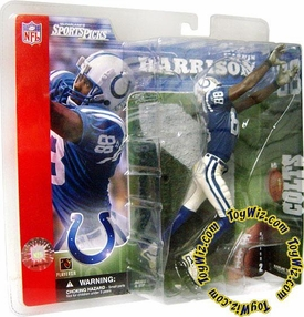 McFarlane Toys NFL Sports Picks Series 2 Action Figure Marvin Harrison (Indianapolis Colts) Blue Jersey & Wearing Helmet