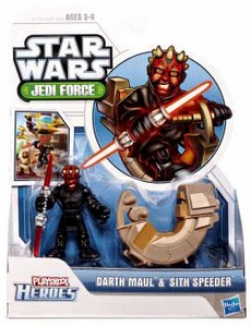 Star Wars 2011 Playskool Jedi Force Mini Figure 2-Pack Darth Maul & Sith Speeder