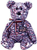 Ty Beanie Baby Exclusive The USA Bear