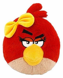 Angry Birds Girls 8 Inch DELUXE Plush With Sound Red Girl Bird BLOWOUT SALE!