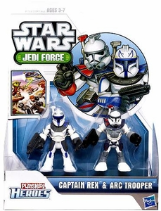Star Wars 2012 Playskool Jedi Force Mini Figure 2-Pack Captain Rex & Arc Trooper