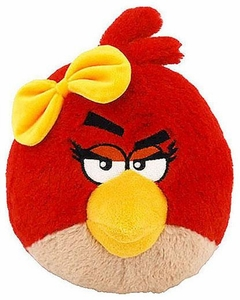 Angry Birds Girls 12 Inch MEDIUM Plush With Sound Red Girl Bird