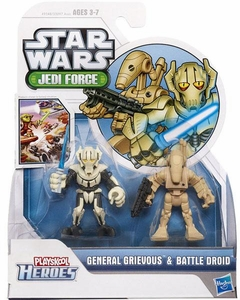 Star Wars 2012 Playskool Jedi Force Mini Figure 2-Pack General Grievous & Battle Droid
