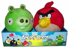 Angry Birds 4 Inch MINI Plush 2-Pack Red Angry Bird & Neutral Pig