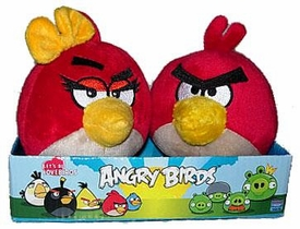 Angry Birds 4 Inch MINI Plush 2-Pack Red Angry Girl & Boy