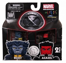 Marvel Minimates X-Men First Class Exclusive Mini Figure 2-Pack Beast & Azazel