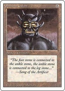 Magic the Gathering Revised Edition Single Card Uncommon Obsianus Golem