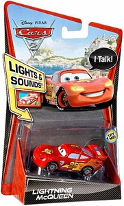 Disney / Pixar CARS 2 Movie 1:55 Die Cast Car with Lights & Sounds Lightning McQueen