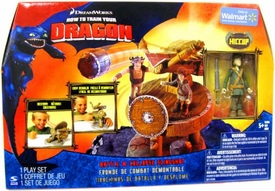 How to Train Your Dragon Movie Playset Battle & Collapse Slingshot [Battle Ready Hiccup Action Figure]