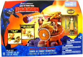 How to Train Your Dragon Movie Playset Battle & Collapse Slingshot [Hiccup with Apron Action Figure]