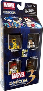 Diamond Select Toys Marvel Minimates SDCC 2011 San Diego Comic Con Exclusive 4-Pack Marvel Vs. Capcom 3 [Deadpool, Phoenix, Arthur & Dante]