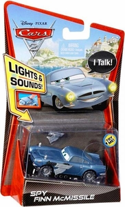 Disney / Pixar CARS 2 Movie 1:55 Die Cast Car with Lights & Sounds SPY Finn McMissile