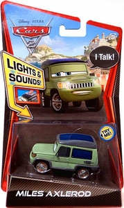 Disney / Pixar CARS 2 Movie 1:55 Die Cast Car with Lights & Sounds Miles Axlerod