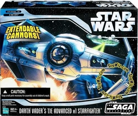 Star Wars Saga 2006 Vehicle Darth Vader's Custom TIE Advanced
