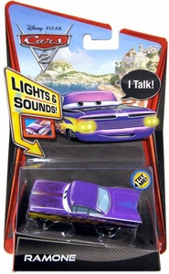 Disney / Pixar CARS 2 Movie 1:55 Die Cast Car with Lights & Sounds Ramone [Purple]