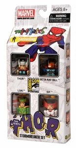 Diamond Select Toys Marvel Minimates 2011 SDCC San Diego Comic Con Exclusive 4-Pack Stormbreaker [Thor, Beta Ray Bill, Loki & Sif]