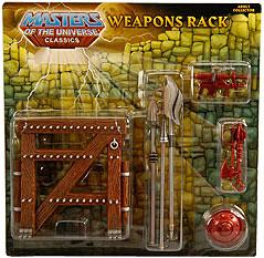He-Man Masters of the Universe Classics Exclusive Weapons Rack