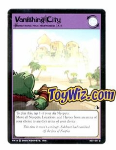 Neopets Trading Card Game Lost Desert Single Card Rare  40/100 Vanishing City
