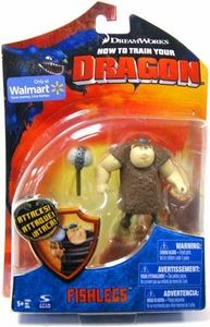 How To Train Your Dragon Movie 4 Inch Series 1 Action Figure Fishlegs [With Club] Damaged Package! Mint Contents!