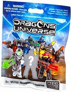 Dragons Universe Mega Bloks #95102 Series 1 Minifigure Mystery Pack [1 RANDOM Mini Figure]
