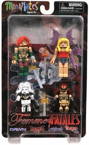 Minimates Exclusive Mini Figure 4-Pack Series 1 Femme Fatales [Lady Death, Darkchylde, Dawn & Tarot]
