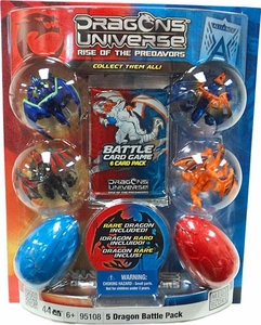 Dragons Universe Mega Bloks Set #95108 5 Dragon Battle Pack