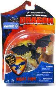 How To Train Your Dragon Movie 4 Inch Series 1 Action Figure Night Fury {Toothless}