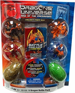 Dragons Universe Mega Bloks Set #95106 5 Dragon Battle Pack