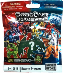 Dragons Universe Mega Bloks #95181 Series 2 Swarm Dragons Minifigure Mystery Pack [1 RANDOM Mini Figure]