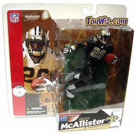 McFarlane Toys NFL Sports Picks Series 6 Action Figure Deuce McAllister (New Orleans Saints) Black Jersey Variant