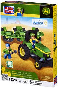 Mega Bloks Exclusive Set #80831 John Deere Tractor & Mower