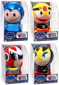 Mega Man SOTA Toys Set of all 4 Bobble Budds [Mega Man, Proto Man, Elec Man & Guts Man]