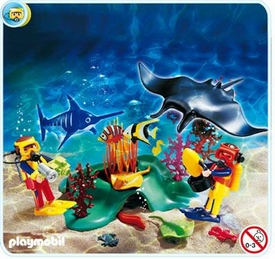 Playmobil Adventure Set #4488 Divers In Tropical Reef